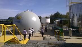 autoridades visitan proyecto energético de biogás de L&E en lechería Lacteos Osorno 1