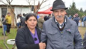 Juana Melin y Juan Valdés dueños del predio donde se instaló el módulo