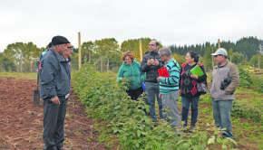 Agricultores en terreno